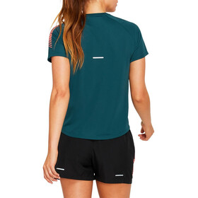 asics Icon SS Top Women magnetic blue/flash coral